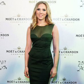 Scarlet Johansson Celebrates Moët & Chandon's 250th Anniversary In Green Dress In Russia