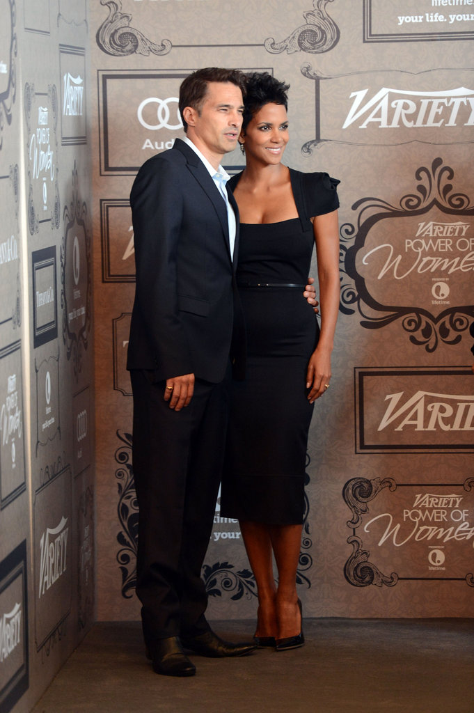 Halle Berry and Olivier Martinez got close for a photo.