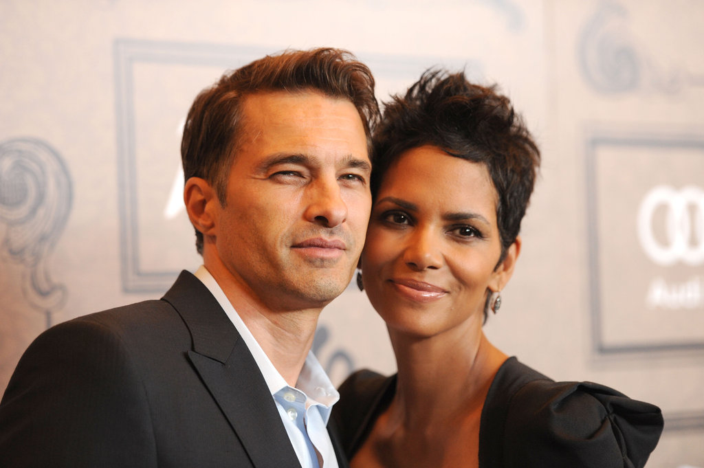 Halle Berry and Olivier Martinez arrived together.