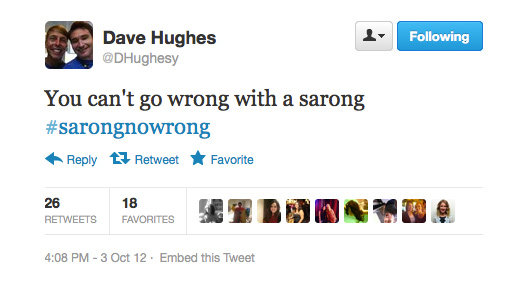 Sounds like Dave Hughes has fashion all figured out!