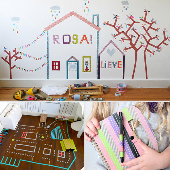 Washi tape crafts for kids popsugar moms for Crafts with washi tape