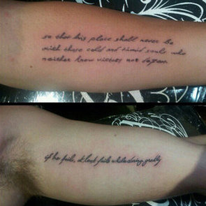 Which Male Celeb Gets A Theodore Roosevelt Quote Tattoo To Match His Fiancée's?