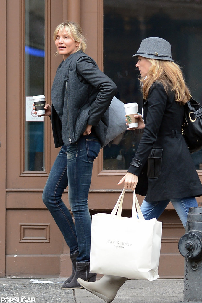Cameron Diaz and a friend shopped around NYC together.