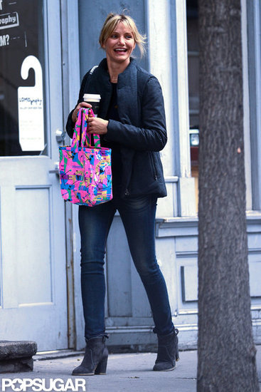 Cameron Diaz had a laugh during a shopping trip around NYC.