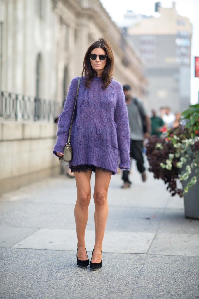 Throw over a cozy sweater dress or oversize knit to give a lacy dress more wearability for daytime. Source: Adam Katz Sinding