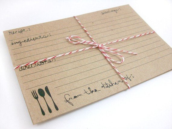 Kraft Paper Recipe Cards