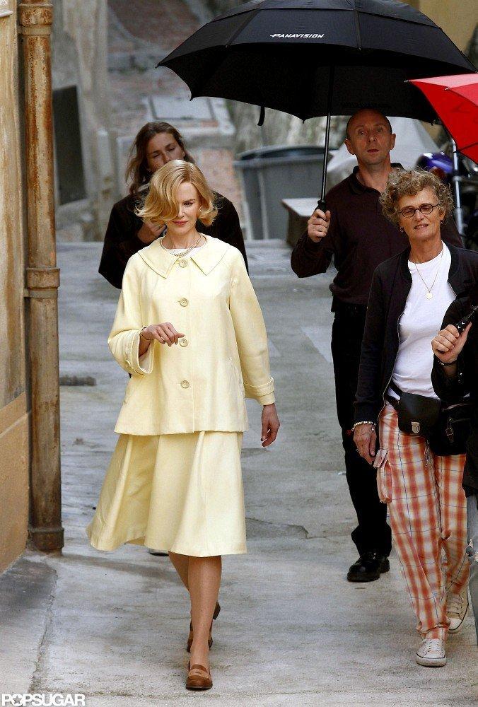 Nicole Kidman filmed as Grace Kelly for Grace of Monaco in France.