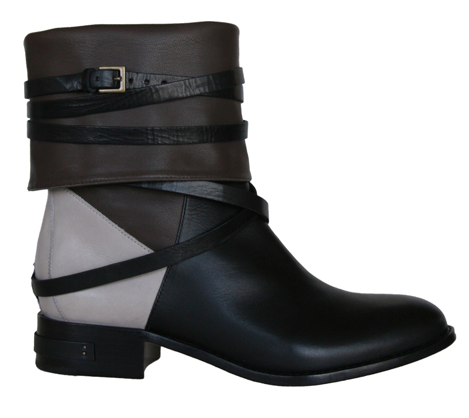 . . . an edgier, toned-down ankle boot.