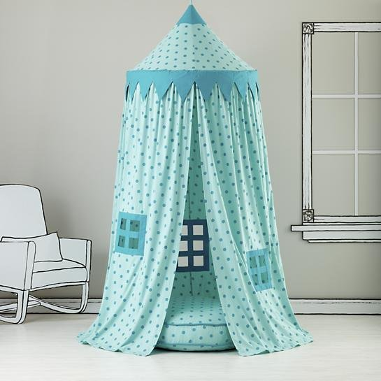 Kids Canopy: Teal Polka Dot Play Circus Tent  The Best Reading Nooks For Kids and Their Books ...