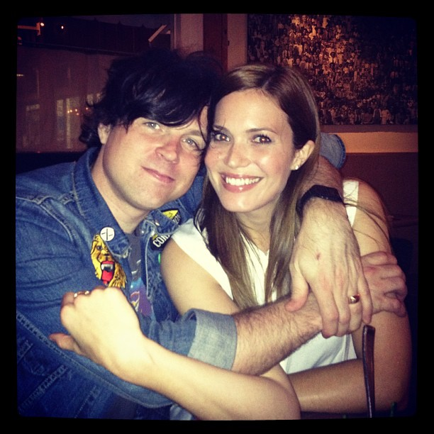 Mandy Moore cuddled for a photo with her husband, Ryan Adams. Source: Instagram user anitakojewelry