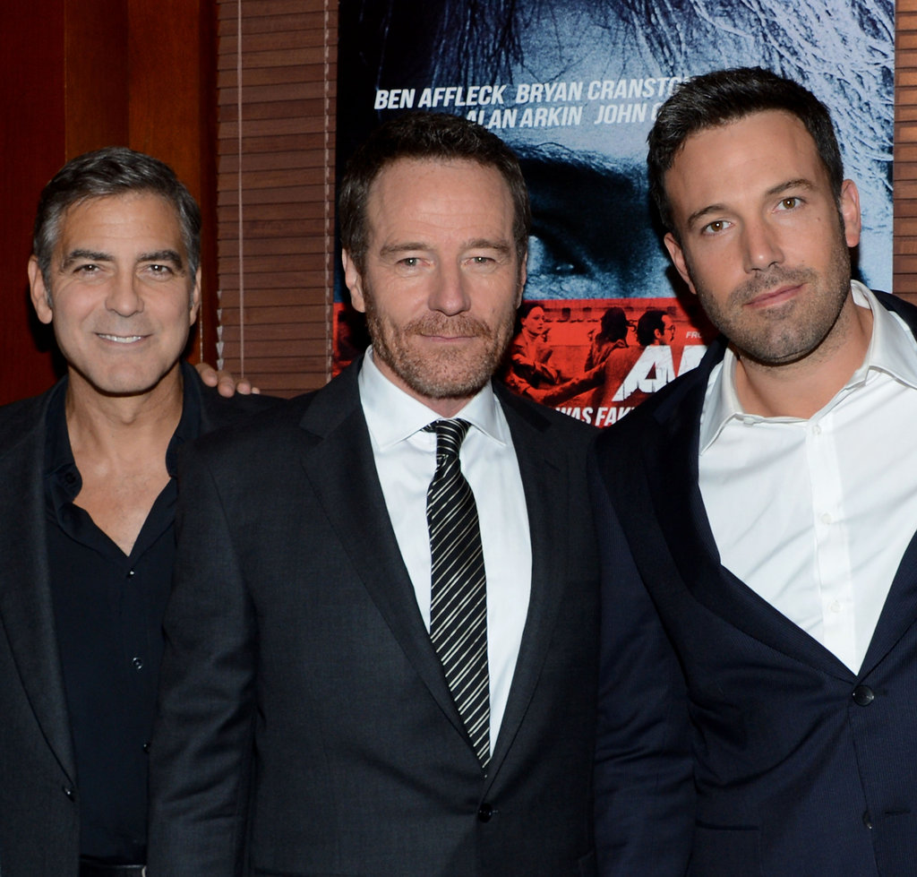 George Clooney, Bryan Cranston and Ben Affleck at the NYC premiere of Argo.