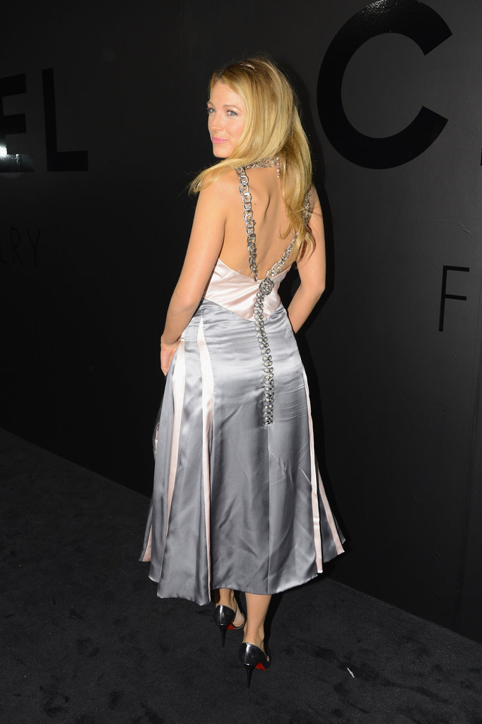 Blake Lively wore a backless Chanel dress to celebrate the label.
