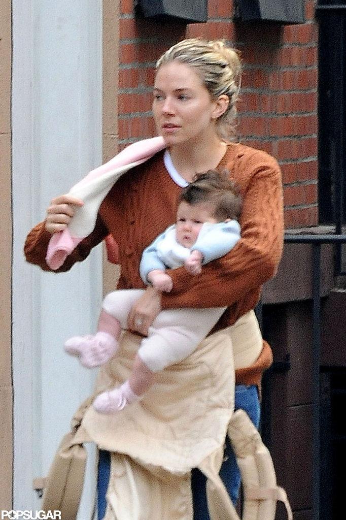 Sienna Miller took Marlowe to NYC.