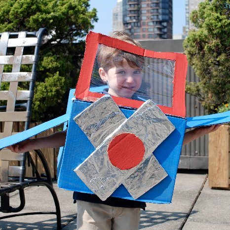 How to Make a Cardboard Box Airplane Costume