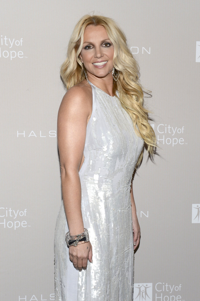 Britney Spears sparkled in Halston Heritage at the gala honoring Halston CEO Ben Malka in LA.