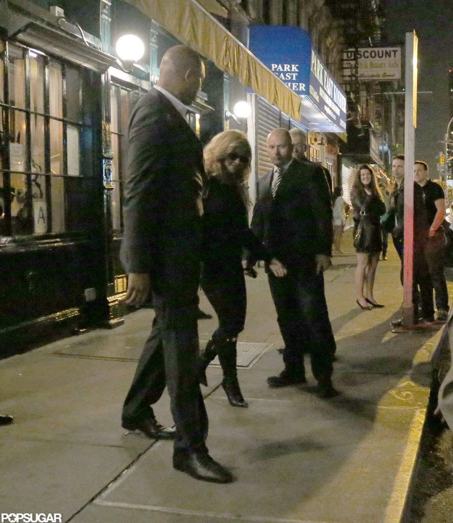 Beyoncé Knowles left Gwyneth Paltrow's NYC dinner.
