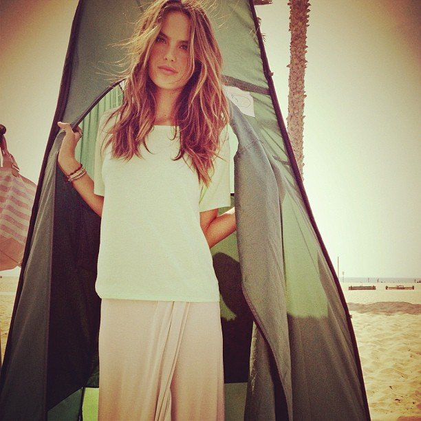 Alessandra Ambrosio went camping on the beach. Source: Instagram user mmmargherita