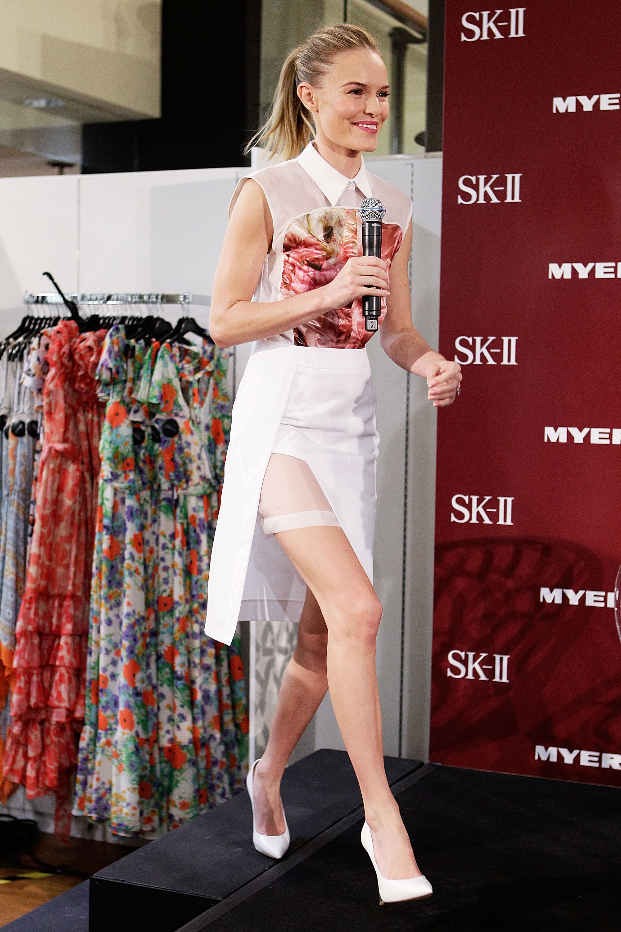 Kate Bosworth made an appearance at Myer Sydney City for her skin care line SK-II.