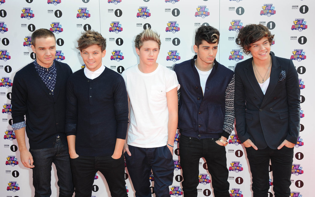Liam Payne, Louis Tomlinson, Niall Horan, Zayn Malik and Harry Styles from One Direction took to the red carpet for the BBC Radio 1 Teen Awards in London on October 7.