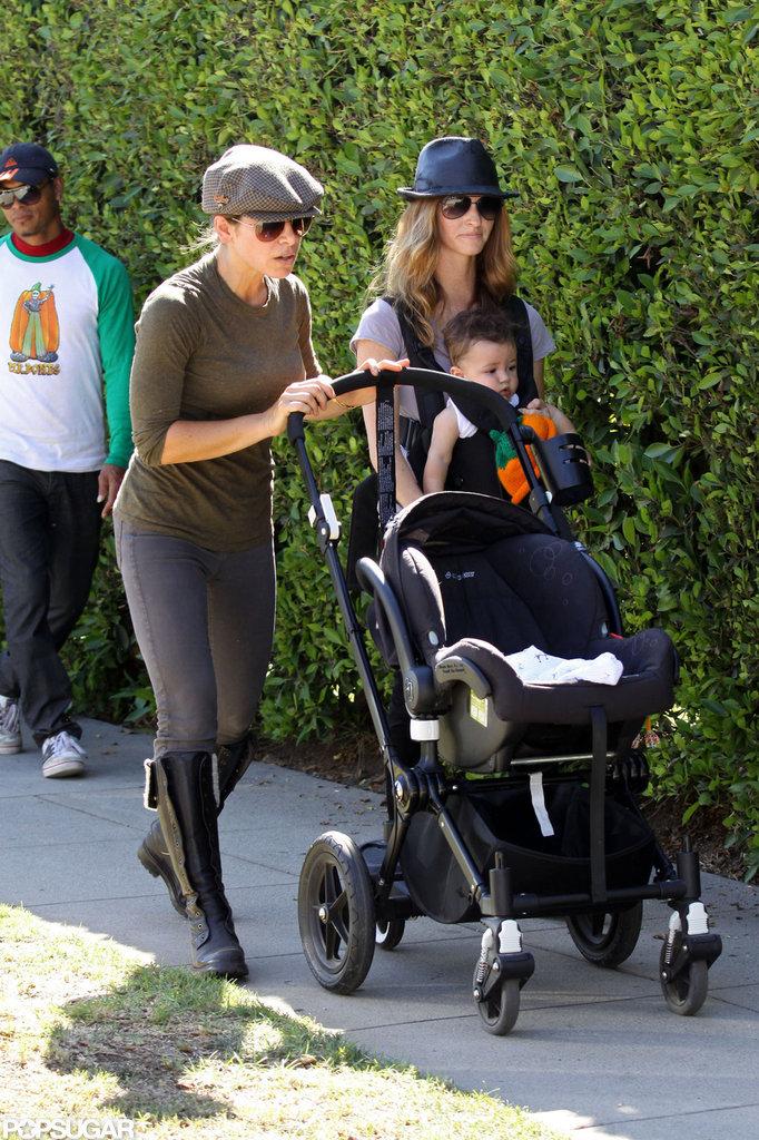 In LA, Jillian Michaels and Heidi Rhoades took their kids to visit Mr. Bones Pumpkin Patch.