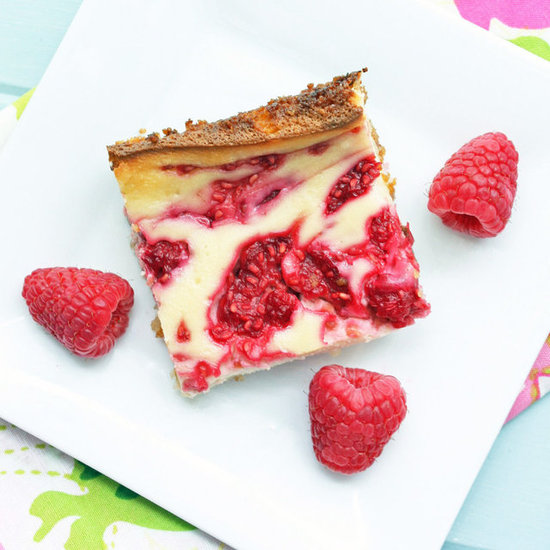 Low Carb Raspberry Cheesecake Bars with a Coconut Macaroon Crust
