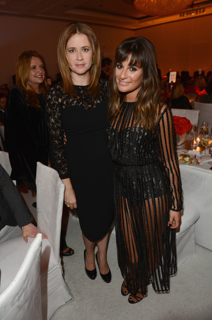 Jenna Fischer and Lea Michele posed for photos at the Elle Women in Hollywood Awards in LA.