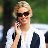 Karolina Kurkova Shows Off How to Chic Up Trendy Varsity Jackets