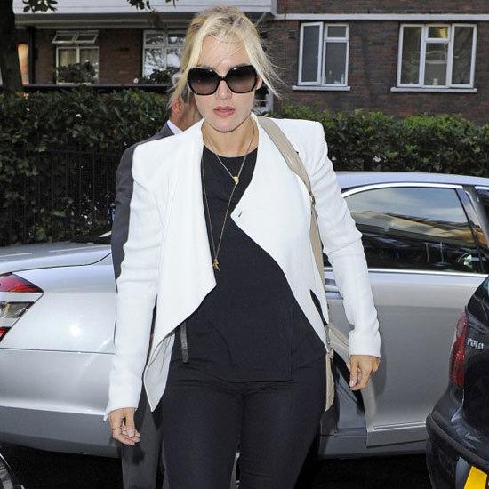 Kate Winslet Wearing White Blazer