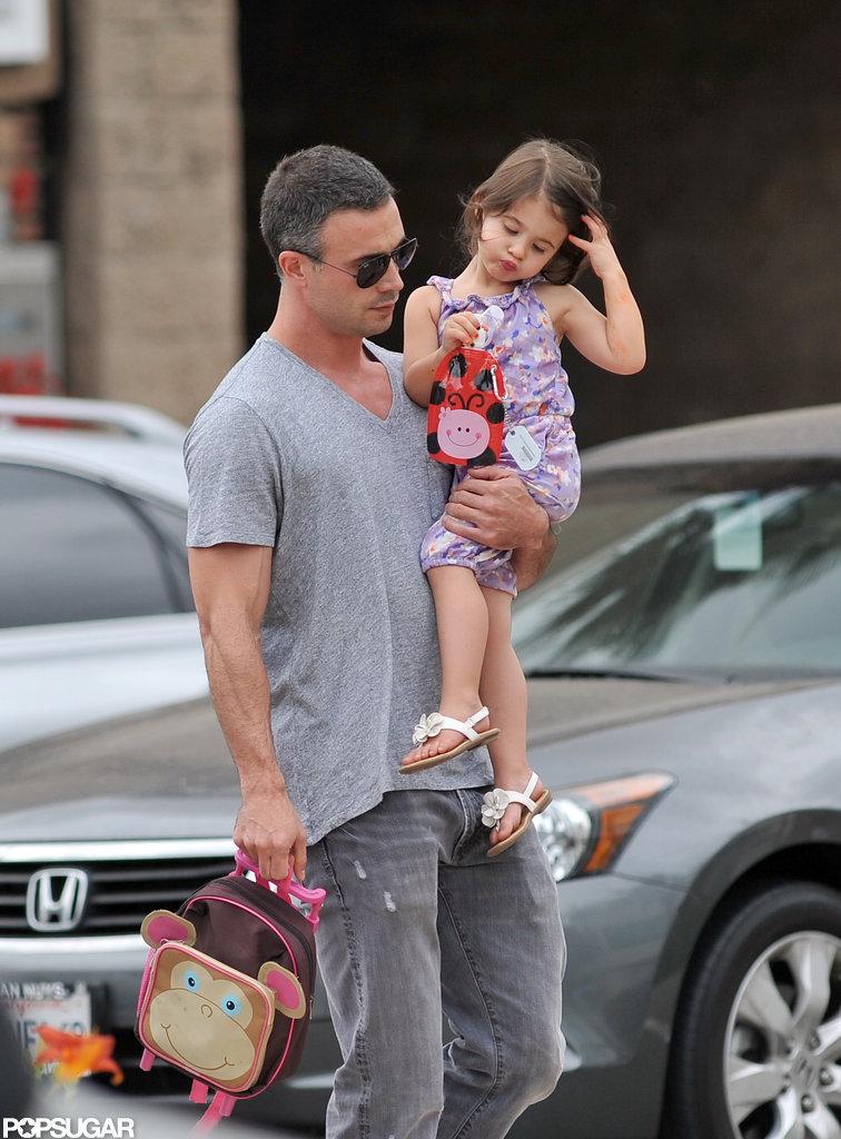 Freddie Prinze Jr. carried his daughter Charlotte in LA.