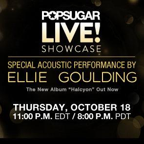 Ellie Goulding Performing New Album Halcyon Live on PopSugar