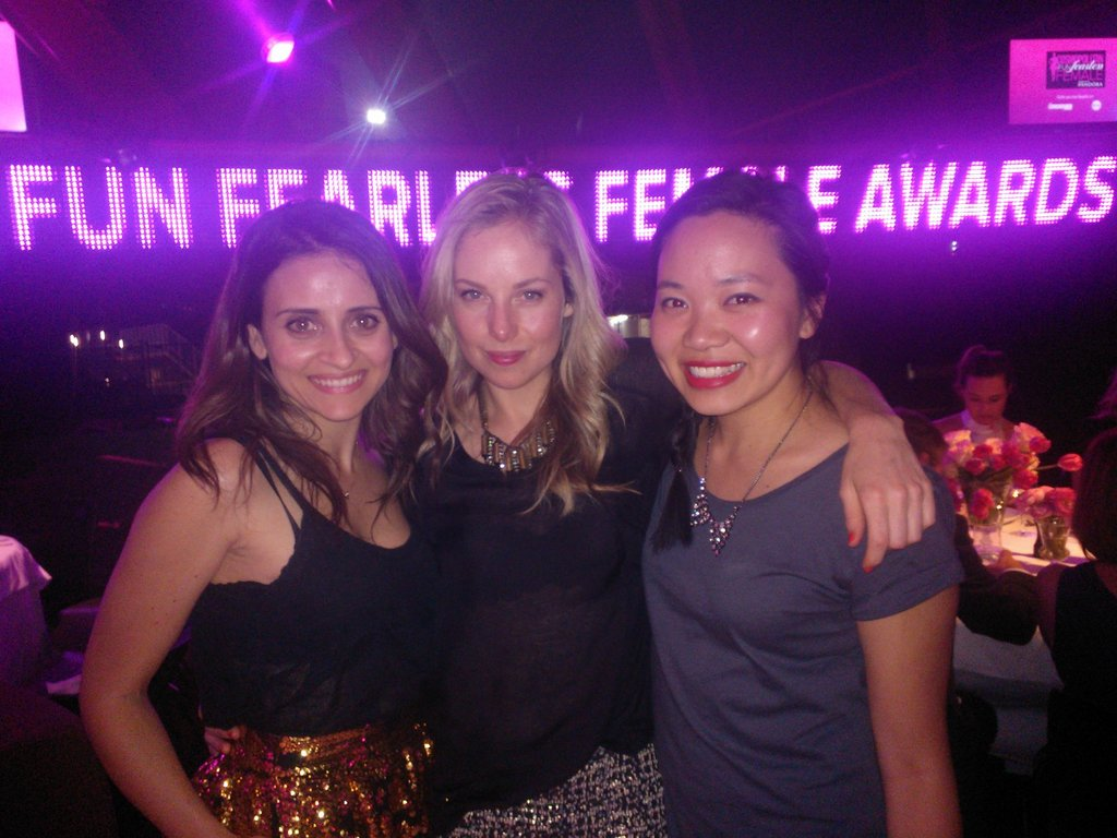 Marisa, Ali and Jess at the Cosmo Fun Fearless Female Awards.