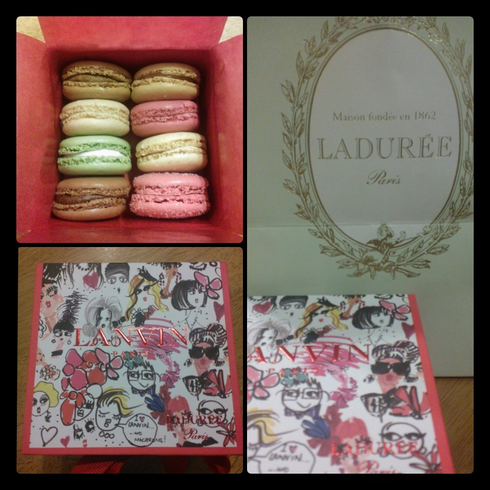What's better than a macaron? A Lanvin and Ladurée limited edition special boxed set of macarons, that's what!