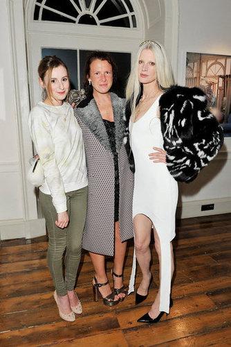 Laura Carmichael, Katie Grand, and Kristen McMenamy