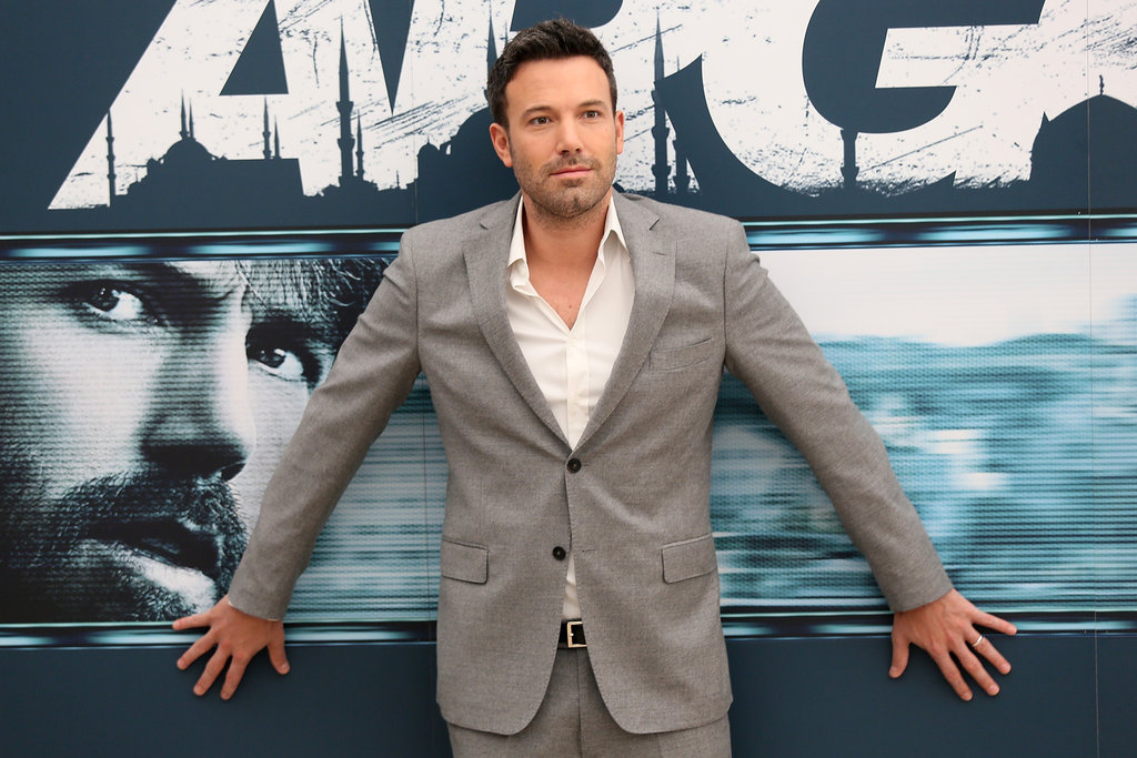 Ben Affleck posed for photos in Rome to promote Argo.