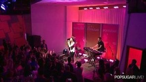 Ellie Goulding Performs at PopSugar Studios in LA