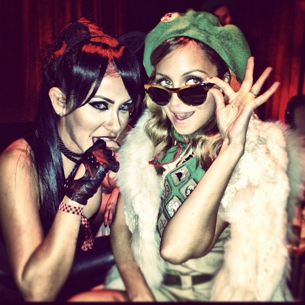 Nicole Richie got goofy with a friend.  Source: Instagram user nicolerichie