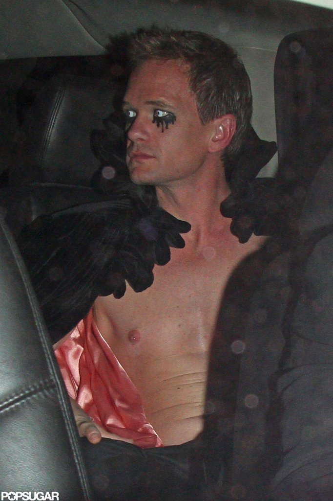 Neil Patrick Harris wrapped up his Halloween night at Bootsy Bellows in LA in 2012.