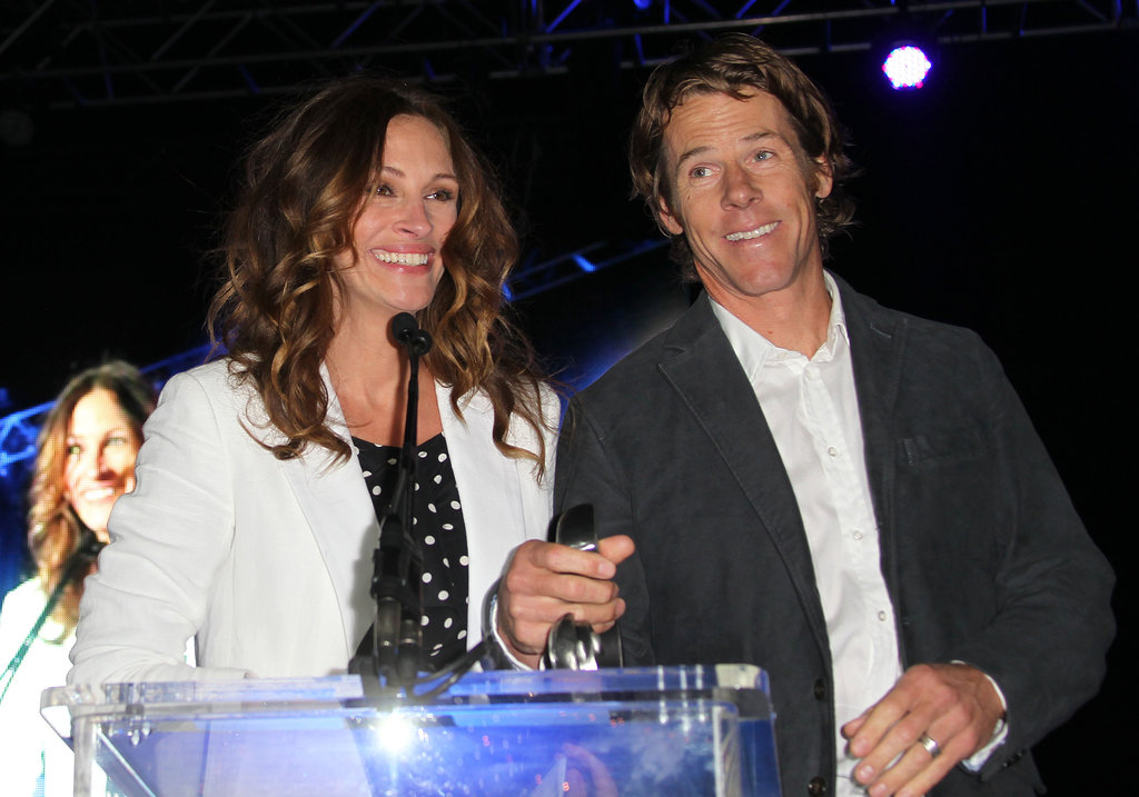 Julia and her husband Danny Moder took the stage during a fundraiser for Heal the Bay in Santa Monica in May 2012.
