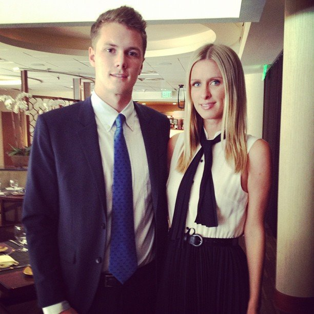 Nicky Hilton took a photo with her brother, Barron, at their family's office. Source: Instagram user nickyhilton