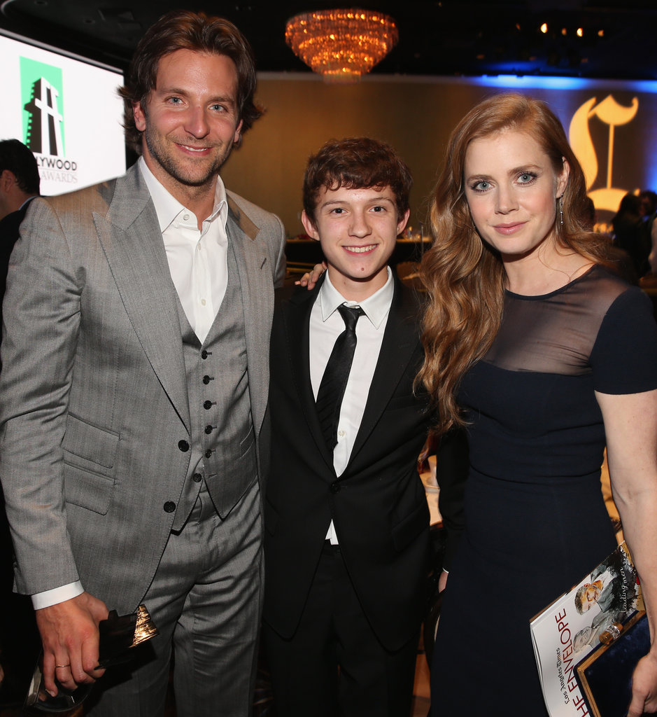 Bradley Cooper, Tom Holland, and Amy Adams mingled at the Hollywood Film Awards gala in Los Angeles.