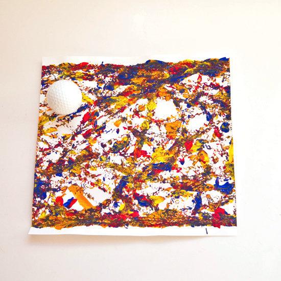 Rolled Golf Ball Paint Craft