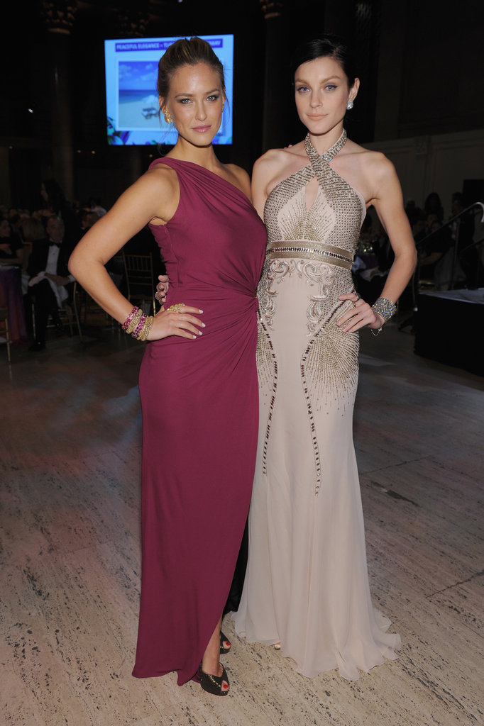 Bar Refaeli and Jessica Stam