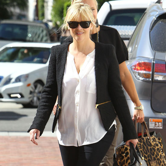 Reese Witherspoon Wearing Colorblock Pumps