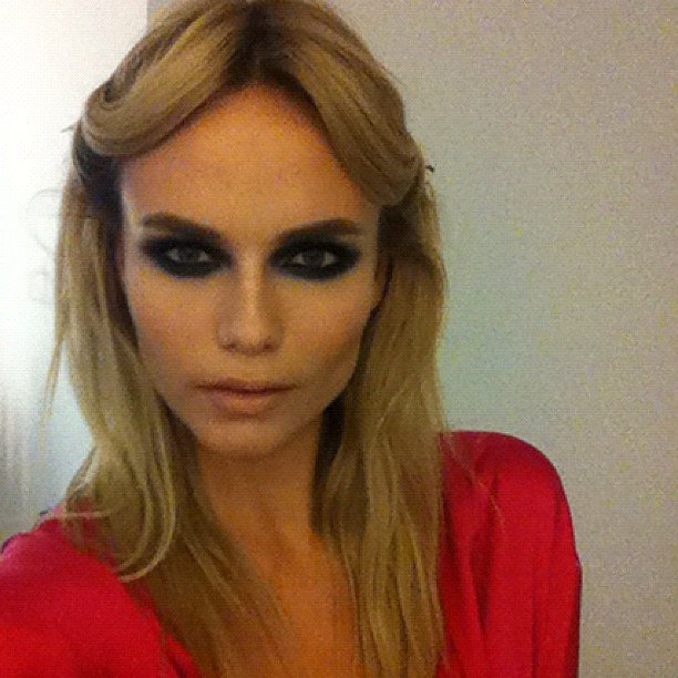 Natasha Poly got her hair and makeup done ahead of the Angel Ball. Source: Instagram user natashapoly
