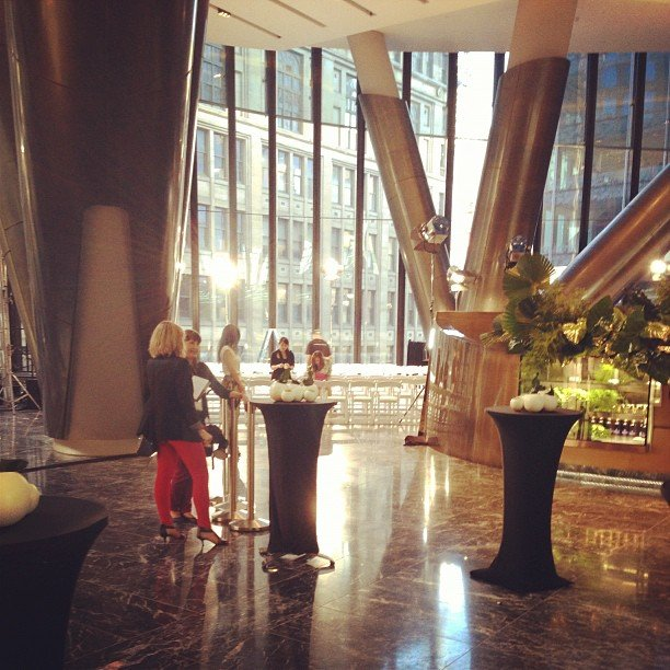 Pre-drinks in a stylish setting as we waited for the Diane von Furstenberg show to start.