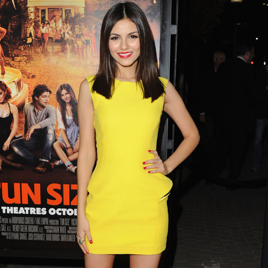 Victoria Justice Wearing Yellow Dress