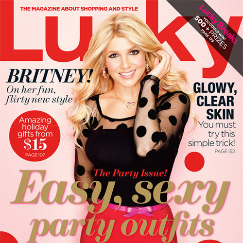 Britney Spears December Lucky Magazine Cover 2012 | Pictures