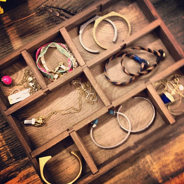 We sneaked a peek at Madewell's Spring jewelry drawer — arm candy galore!