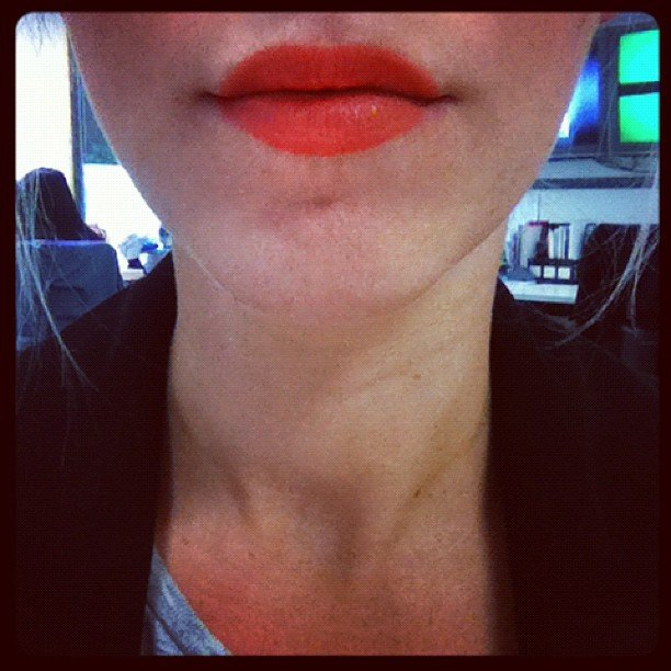 Alison is legit obsessed with this Bobbi Brown Creamy Matte Lip Colour in Jenna.