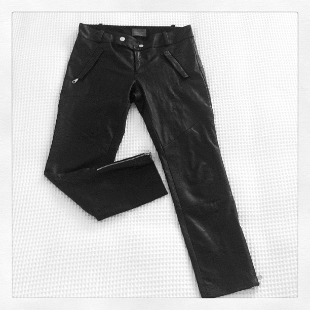Alison and Marisa hit a Watson X Watson sale; Alison walked away with these amaze leather pants for a total steal.